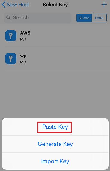 iPhoneからターミナルアプリで公開鍵を使ってssh接続する方法