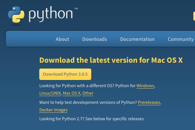 MacにPython3.8をインストールする